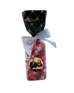 Black Diamonds Mug Stuffer Gift Bag with Candy Hearts