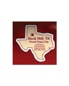 "Texas 0.03"" Thick Vinyl Die Cut Magnet"