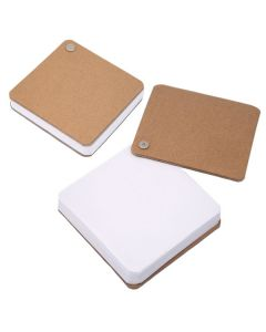 Recycled Cardboard Pivot Pad - White (Blank)