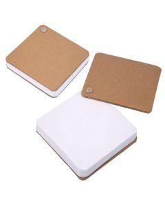 Recycled Cardboard Pivot Pad - White (Blank)