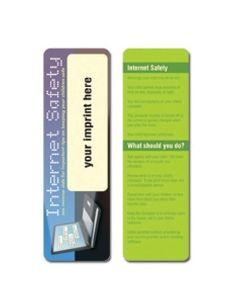 Internet Safety Stock Full Color Digital Printed Bookmark