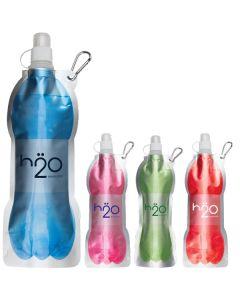 14 Oz. Fold Flat Water Bottle w/ Carabiner