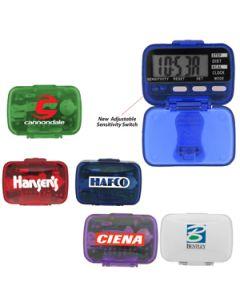 Classic Pedometer w/ Clock (Direct Import - 10 Weeks Ocean)