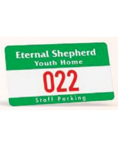 "Rectangle Vinyl Outside Parking Permit (2 3/4""x4 3/4"")"