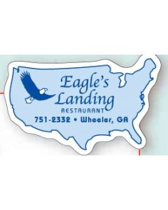 "Washington 0.03"" Thick Vinyl Die Cut Magnet"