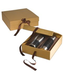 Leather Wrapped Thermos/Tumbler Gift Set