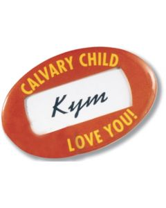 "Oval Window Button w/ Safety Pin (1 3/4""x2 3/4"")"