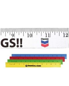 "12"" Enamel Wood Ruler (Spot Color)"