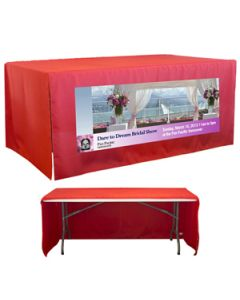 6' 3-Sided Open Corner Table Cover (4 Color Process)