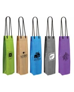 Non Woven Single Wine Bottle Bag (Blank)