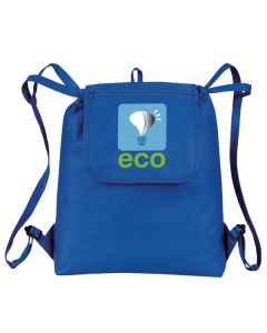 """eGREEN"" Fold-Up Drawstring Cooler Backpack"
