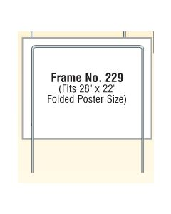 "Steel Wire Poster Frames (Fits 28""x22"" Folded)"