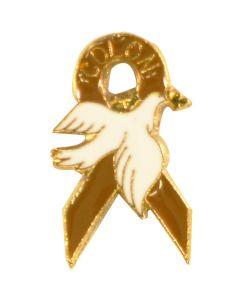 Colon Cancer Ribbon Dove Lapel Pin