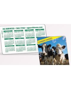 "Offset Full Color Plastic Calendar Card w/ Open Blocks (0.03"" Thick)"
