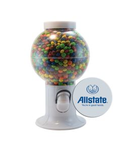 White Gumball Machine Filled with Chocolate Littles