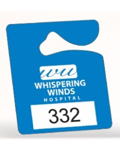 "Recyclable Plastic Hanging Parking Permit (2 1/2""x3"")"