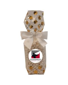 Gold Dots Mug Stuffer Gift Bag with Colored Candy Bullet
