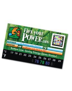 "Stick It Anywhere Thermometer Sticker / BizCard (3 1/2""x2"")"