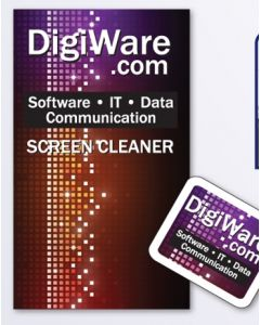 Large Square Microfiber Screen Cleaner Cloth w/ Marketing Card