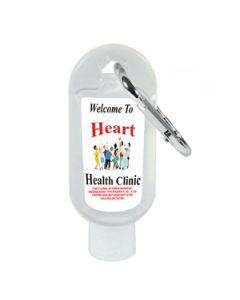 1 Oz. Hand Sanitizer Squeeze Bottle with Carabiner Attachment (Multicolor)
