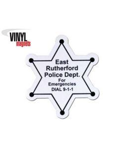 Stock Vinyl 6 Point Star Magnet