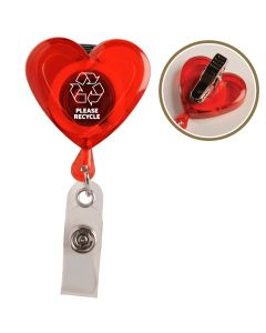 Heart Secure A Badge w/ Alligator Clip