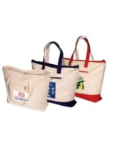 Logo Tec Zippered Cotton Boat Tote