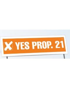 "Double Sided 24 Point Poster Board Yard Sign (21""x34 1/2"") No Frames"
