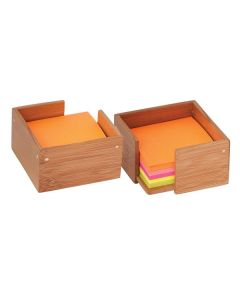 Bamboo Sticky Note/Memo Holder (Blank)