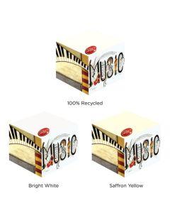 "Adhesive Notepad Cube w/ 550 Sheets (3""x3"")"
