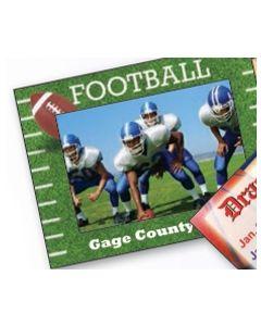 Sports Football Medium Photoframeables Wood Photo Frame Decal