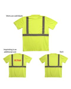 ANSI 2 Yellow Safety T-Shirt (Direct Import-10 Weeks Ocean)