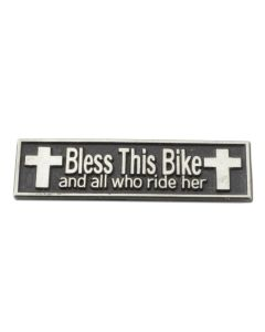 Bless This Bike and All Who Ride Her Lapel Pin