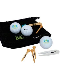 Nike Golf Valuables Pouch 3 Ball Kit - Power Distance Long Balls