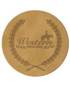 "Leather Coasters-Circle (3 7/8"" Diameter)"