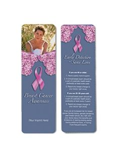 Breast Cancer Awareness Stock Full Color Digital Printed Bookmark