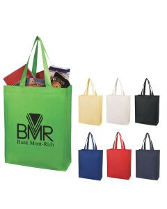 "Custom Matte Laminated Non Woven Shopper Tote Bag (12 1/2""x16""x5 1/2"")"