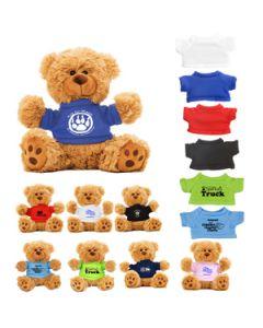 "6"" Plush Teddy Bear w/ T-Shirt (Overseas 8-10 Week)"