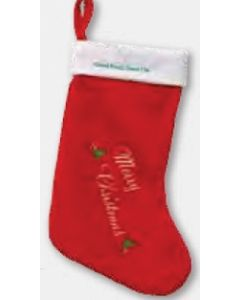 """""""Merry Christmas"""" Stocking (Blank)/ Product Packaging Option"""