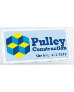 "Full Color Horizontal Corrugated Plastic Sign (12""x24"")"