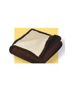 "Micro Mink Sherpa Blanket w/ Hidden Zipper - Embroidered (50""x60"")"