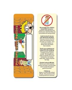 Dealing w/ Bullies Stock Full Color Digital Printed Bookmark