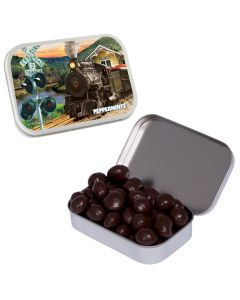 Large White Mint Tin with Chocolate Espresso Beans