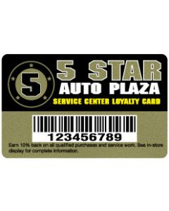 """Deluxe Loyalty Cards - .030"""" Deluxe Gold"""