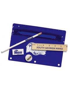 "Premium Translucent School Kit w/ Pencil, 6"" Ruler, Eraser & Sharpener"