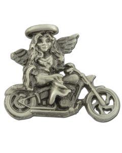 Biker Angel Lapel Pin