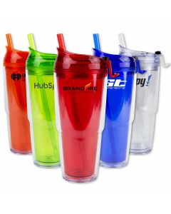 Strato 18oz Double Wall Tumbler with Straw