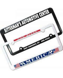 License Plate Frame w/ 2 Holes (Spot Color)