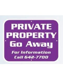 "Polyethylene Rectangle Security Yard Sign (0.055"" Thick)"