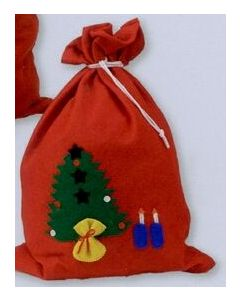 "Red ""Santa's Toy Sack"" Gift Bag w/ String Tie/ Product Packaging Option"